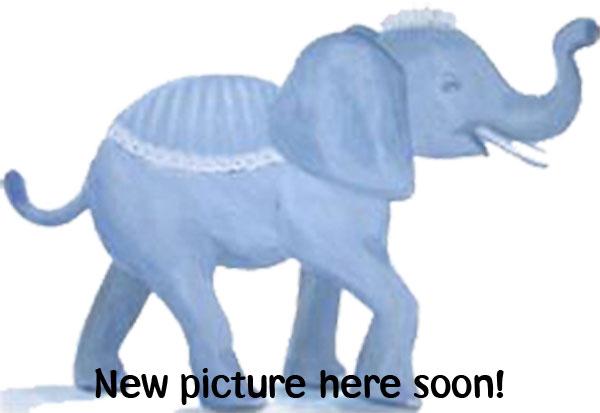 Kageform - elefant - blå