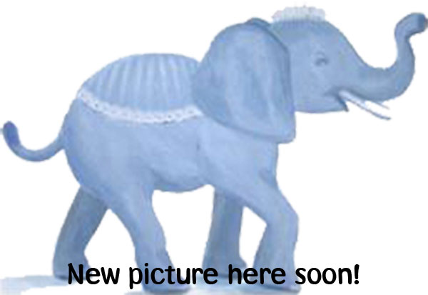 Billed - hvid ramme med elefant