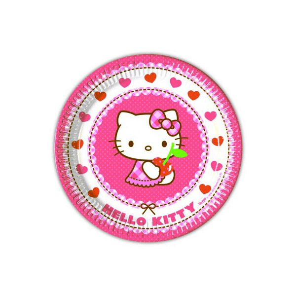 Tallerkener - Hello Kitty - 8 stk