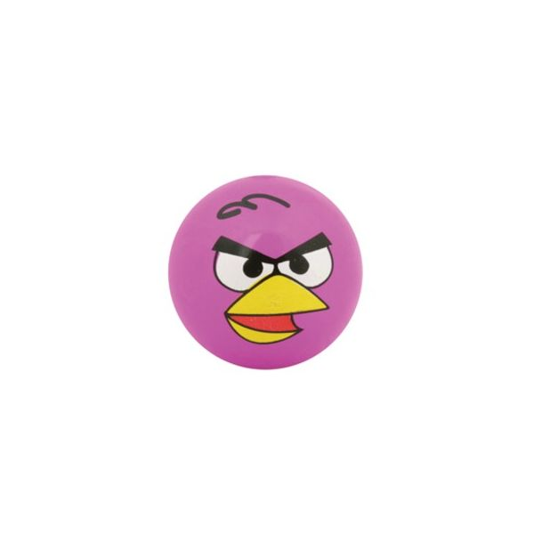 Hoppebold med lys - Angry birds - rosa