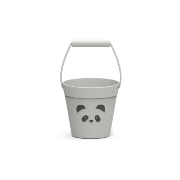 Spand - blød silicone -  Panda dumbo grey - Liewood