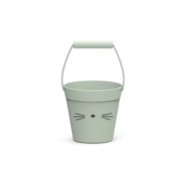 Spand - blød silicone - Cat dusty mint - Liewood