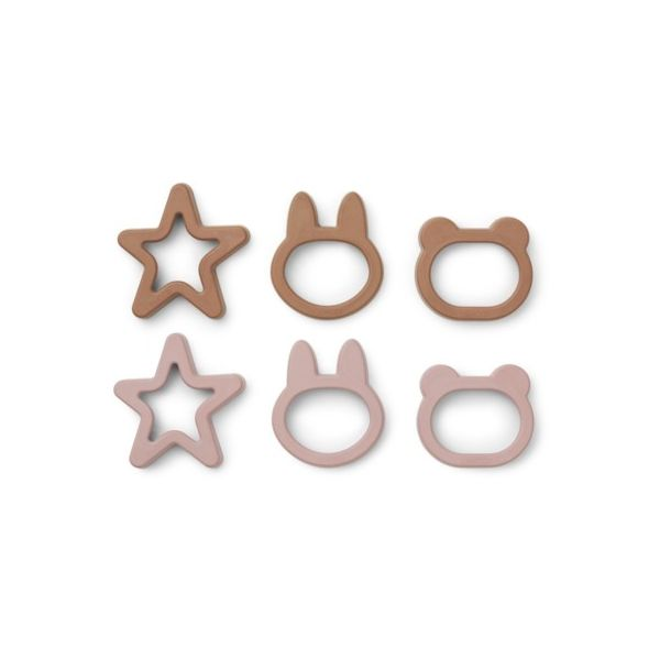 Kageforme - Andy cookie cutter 6 stk - Rose mix - Liewood