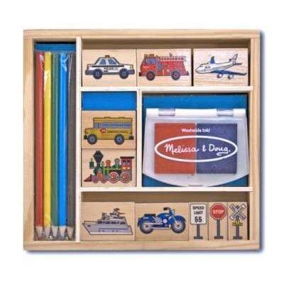 Stempelsæt med køretøjer