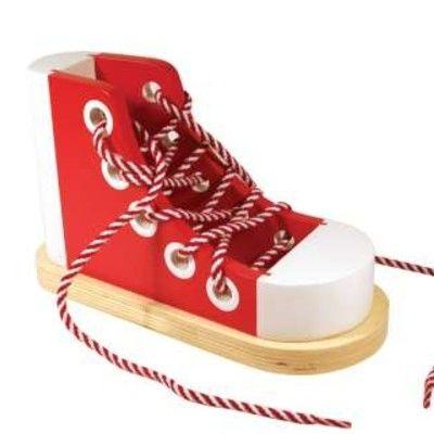 Lær at binde sko - rød