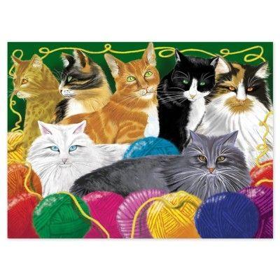Puslespil - søde katte - 200 brikker