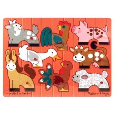 Knoppuslespil - samle dyrene