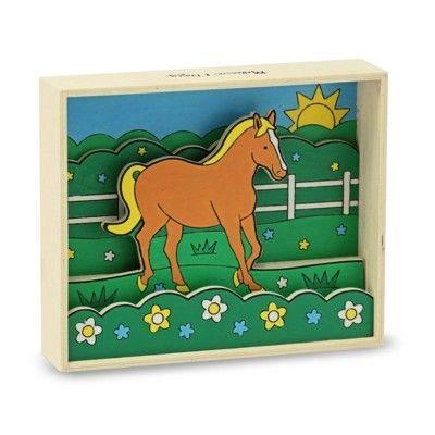 3D billede - hest, male efter nummer
