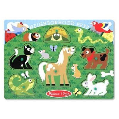 Knoppuslespil med husdyr