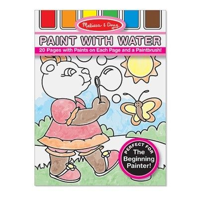 Male med vandfarve - lyserød
