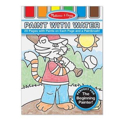 Male med vandfarve - blå