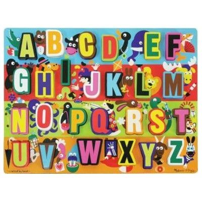 Puslespil - bogstaver med dyr