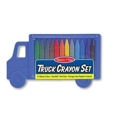 Farvekridt, 12 stk i lastbilsæske - blå