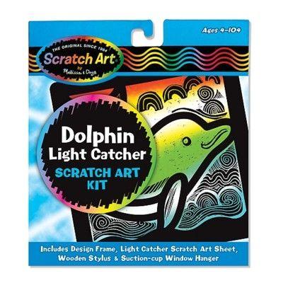 Scratch art - delfin, billede til vinduet