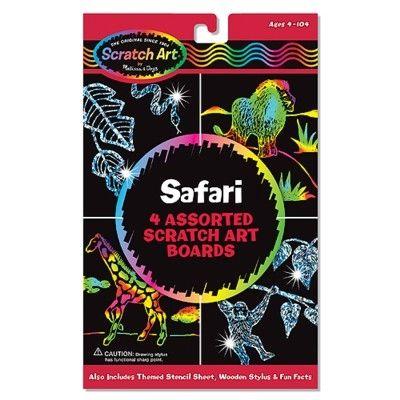 Scratch art - safari