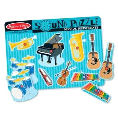 Knoppuslespil med lyd - musikinstrument - Melissa & Doug