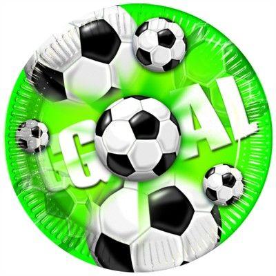 Tallerkener - fodbold - 10 stk