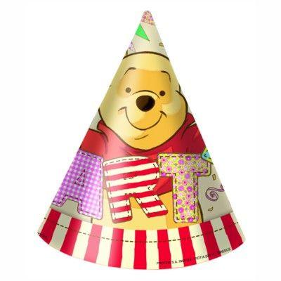 Fødselsdagshatte - Peter Plys - 6 stk