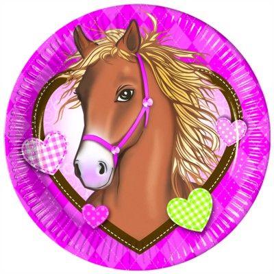 Tallerkener - hest - 10 stk