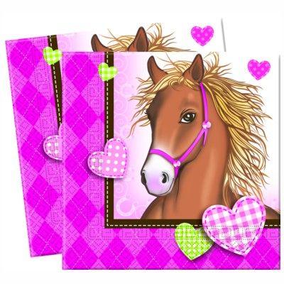 Fødselsdagsservietter - hest - 20 stk