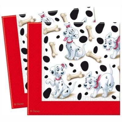 Fødselsdagsservietter - 101 dalmatinere - 20 stk.
