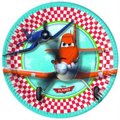 Tallerkener - Planes - 8 stk