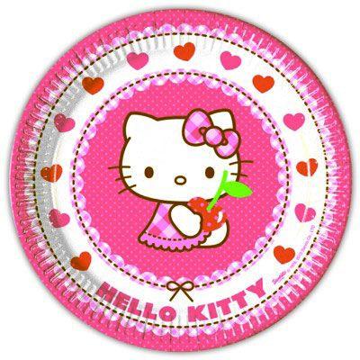 Tallerkener - Hello Kitty - 8 stk