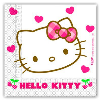 Fødselsdagsservietter - Hello Kitty - 20 stk