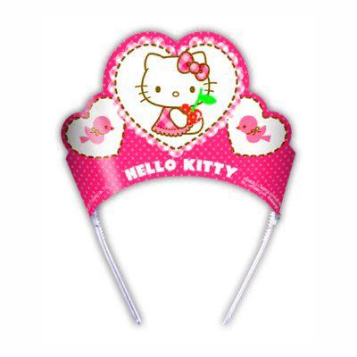 Fødselsdagshatte - Hello Kitty-diadem - 6 stk