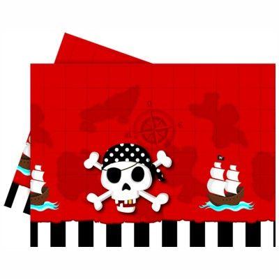 Dug til børnefødselsdagen - pirat rød/sort
