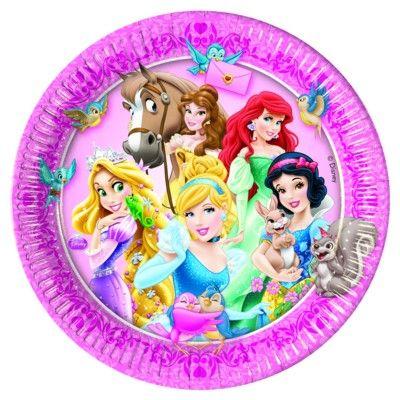 Tallerkener - Disneyprinsesse - 8 stk