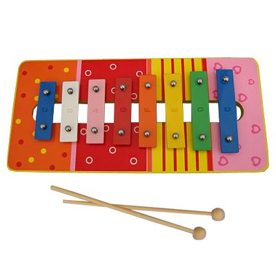 Xylofon i metal og træ - rød
