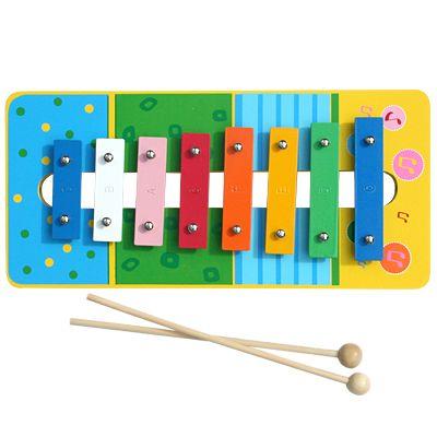 Xylofon i metal og træ - blå