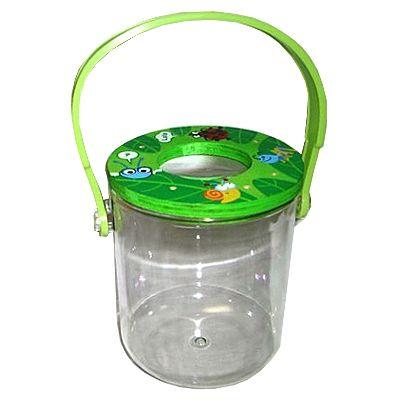 Insektglas med forstørrelsesglas - grøn