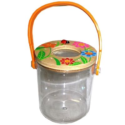 Insektglas med forstørrelsesglas - orange