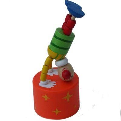 Push-up figur, stor - Cirkus - Klovn på hovedet med lyd