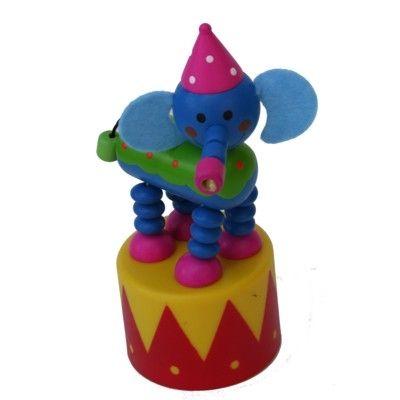 Push-up figur, stor - Cirkus - Elefant med lyd