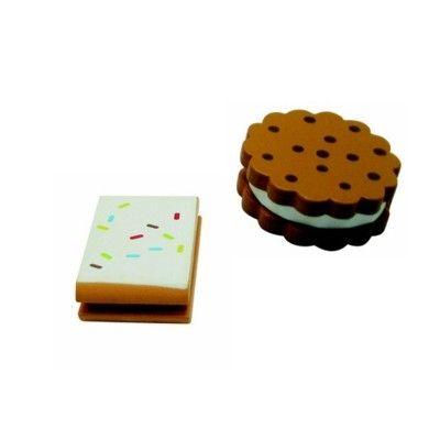 Legemad - småkager i træ, sæt med 2 stk.