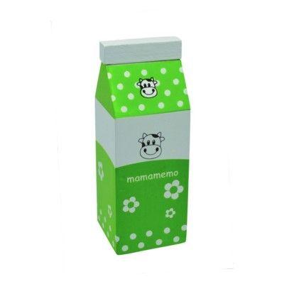 Legemad - Mælkekarton i træ - grøn