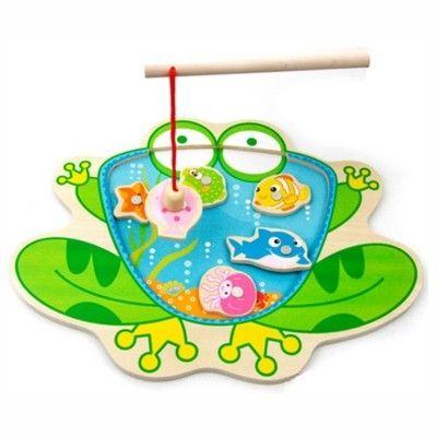 Fiskespil i træ - frø