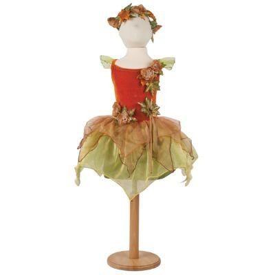 Fe kjole med efterårsnyancer - 6 til 8 år