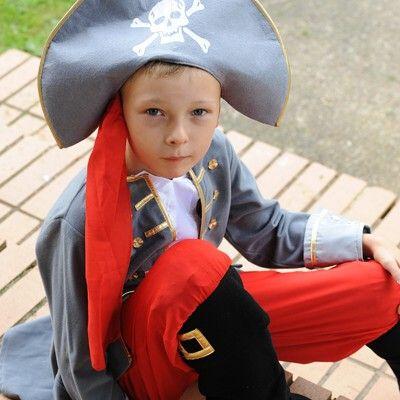 Udklædning, piratkaptajn, 6 til 8 år