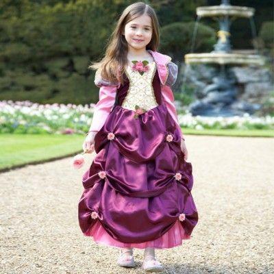 Prinsessekjole med roser, 6 til 8 år