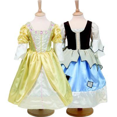 Prinsessekjole og askepotkjole 2 i en - 6-8 år
