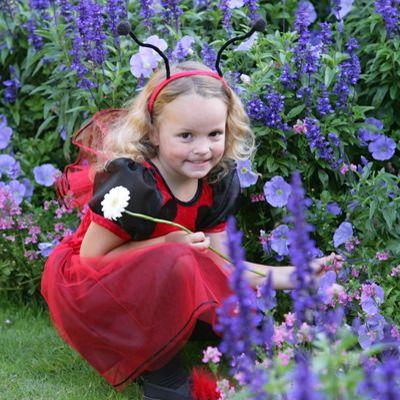 Mariehøne kjole - 2-3 år