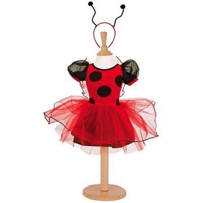Mariehøne - kjole, 3 til 5 år