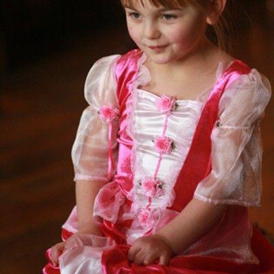 Prinsessekjole, posy, 3-5 år