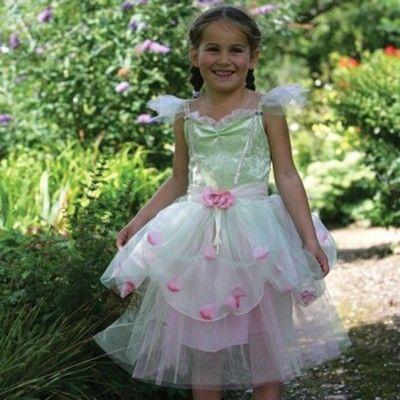 Æbleblomster kjole, 6 til 8 år