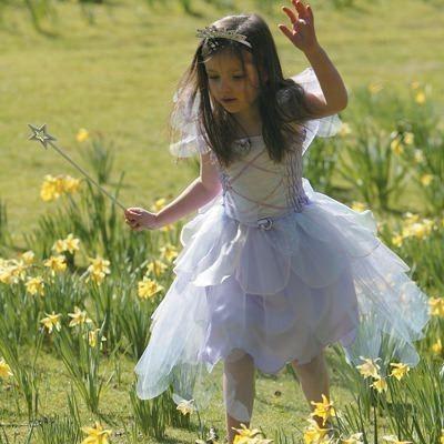 Fe kjole med vinger - lyslilla, 6 til 8 år