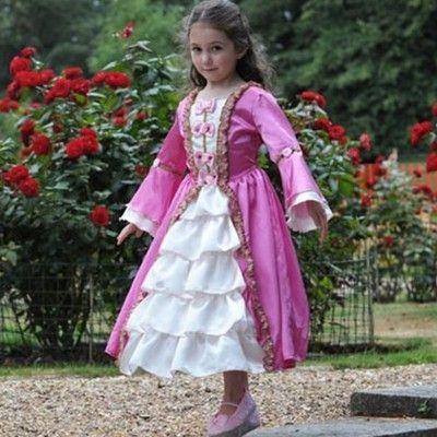 Pinsesse kjole - Marie Antoinette, 6-8 år